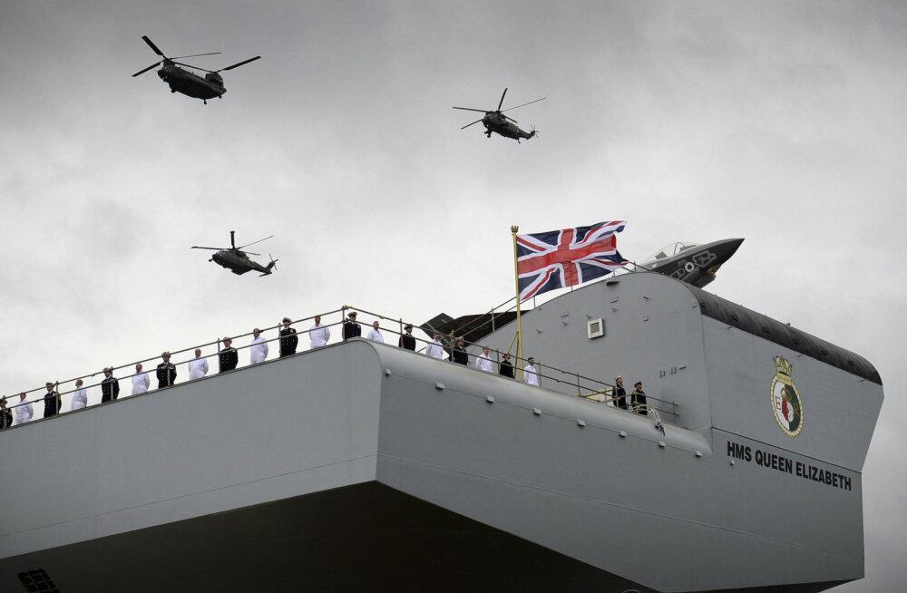 Käkitegu: fotograaf maandas drooni märkamatult brittide uhiuue lennukikandja tekile