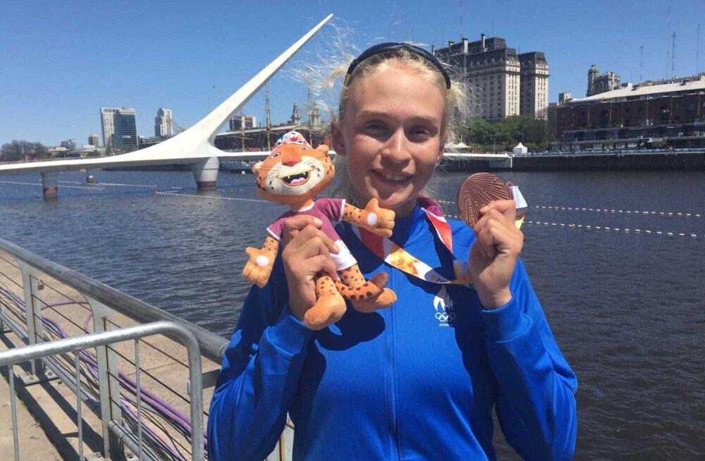 Грета Яансон выиграла на юношеских олимпийских играх бронзовую медаль