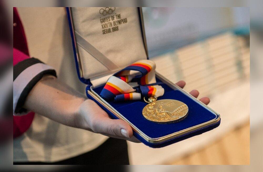Erika Salumäe Olümpiamedal