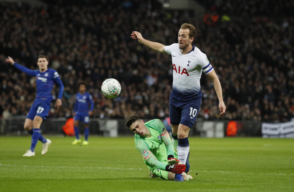 Harry Kane teenib penalti