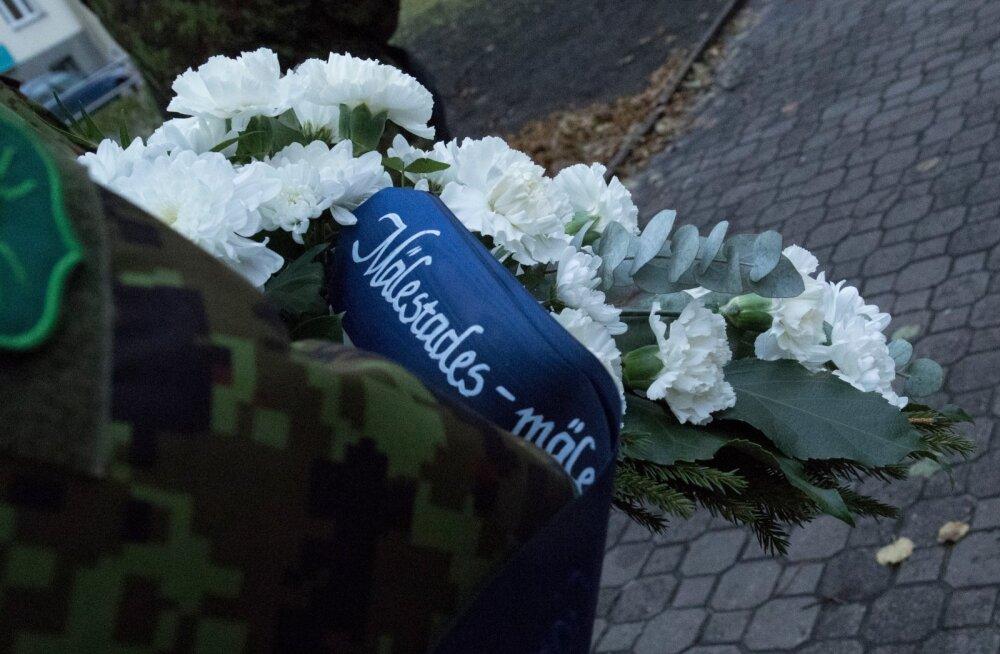 Staabi- ja sidepataljoni jalutuskäik Tallinna 21. kooli juurde