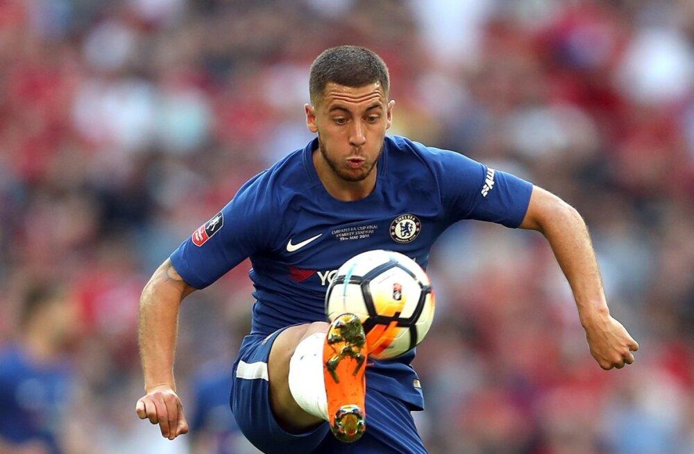 Eden Hazard Londoni Chelsea särgis.