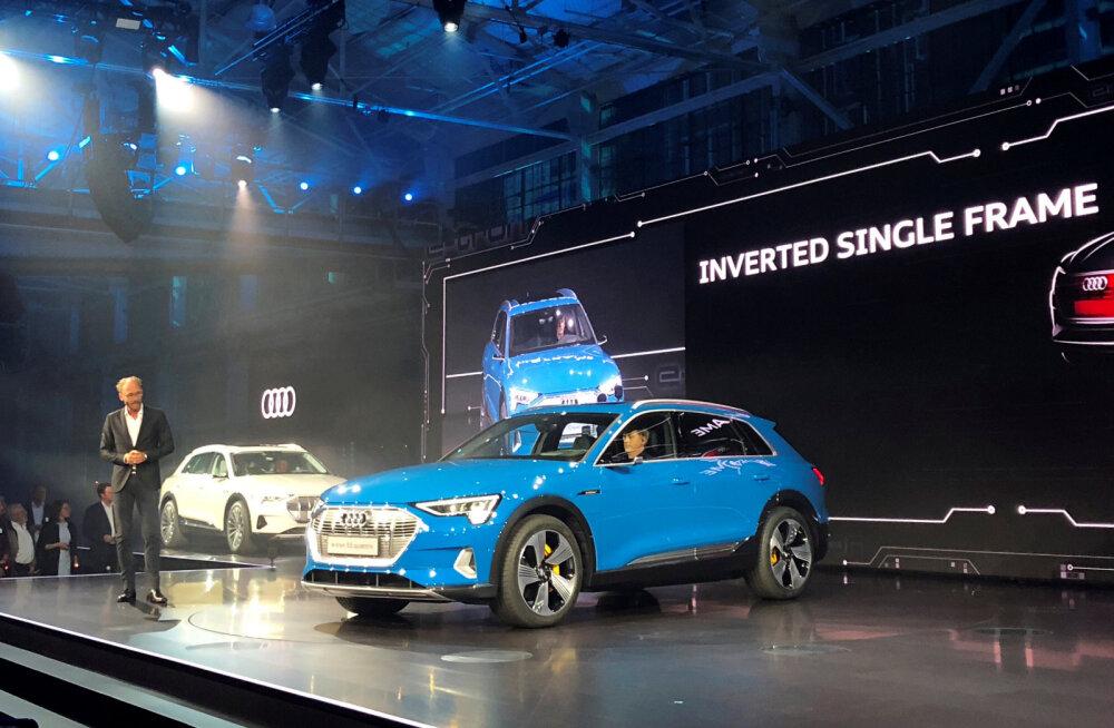 Audi näitas oma uhiuut elektrimaasturit, millel on kõik lubatud funktsioonid
