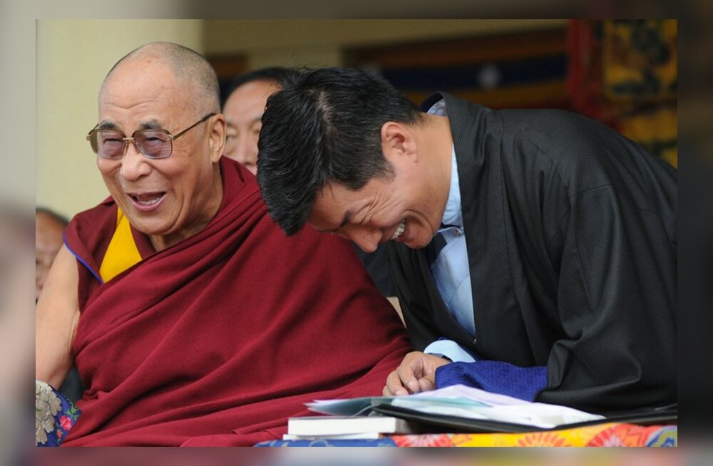 Dalai Laama ja Tiibeti eksiilvalitsuse peaminister Lobsang Sangay