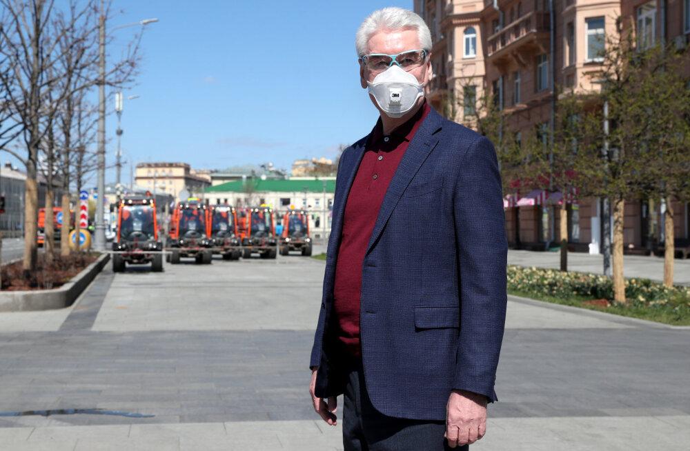 Moskva linnapea sõnul on koroonaviirusega nakatunute tegelik koguarv linnas umbes 300 000