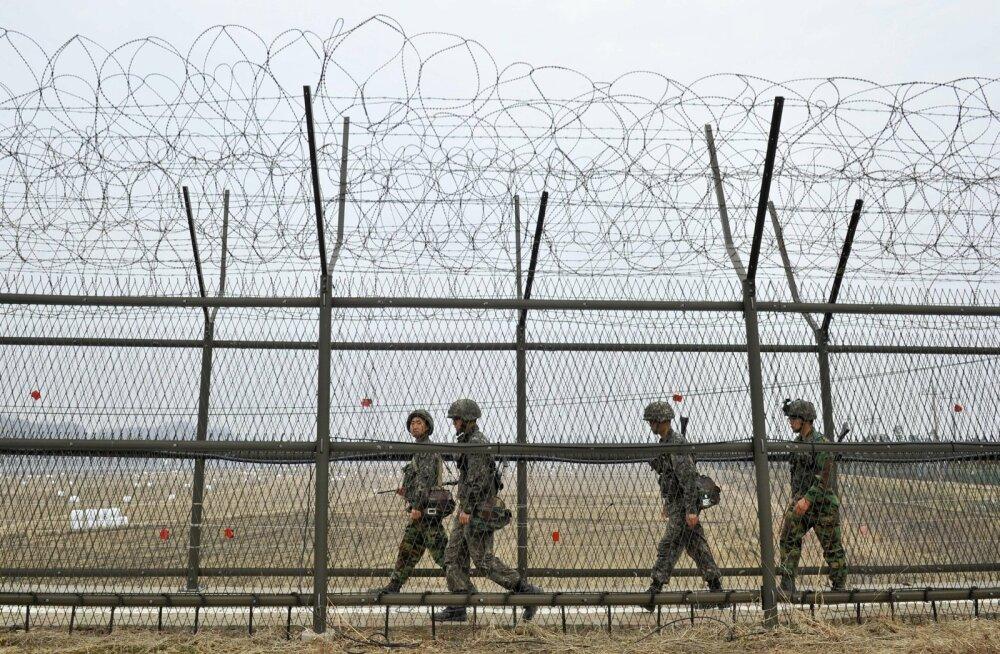 Põhja-Korea sõdur kõndis läbi demilitariseeritud tsooni Lõuna-Koreasse