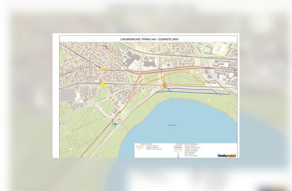 Tallinn ehitab Viljandi maantee kergliiklustee ja Järve terviseraja viadukti