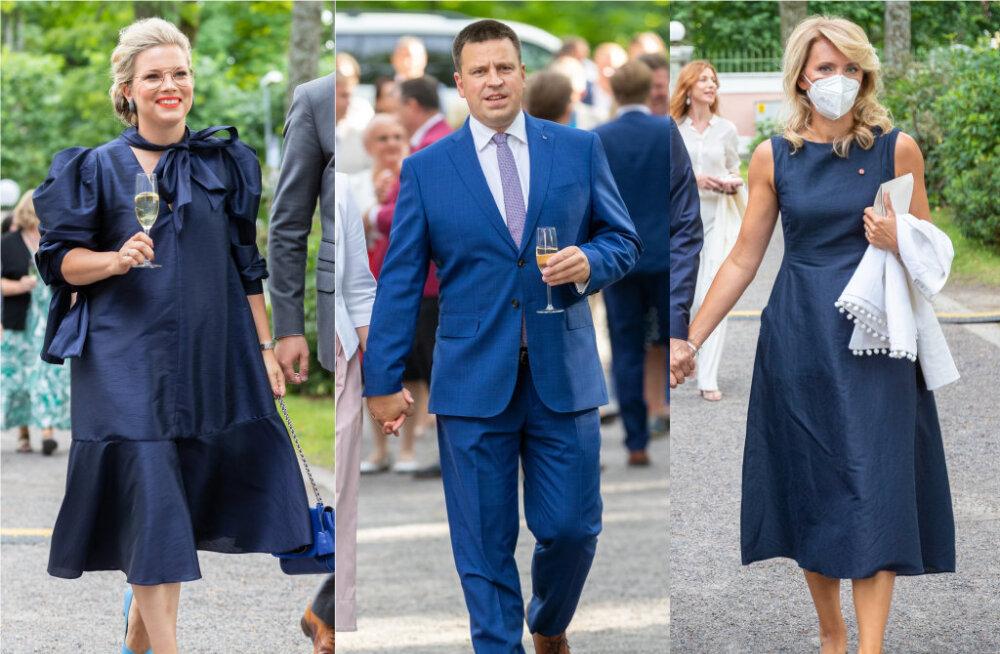 ФОТО | Роскошно и патриотично! Кто из гостей приема в Розовом саду оделся в национальные цвета?