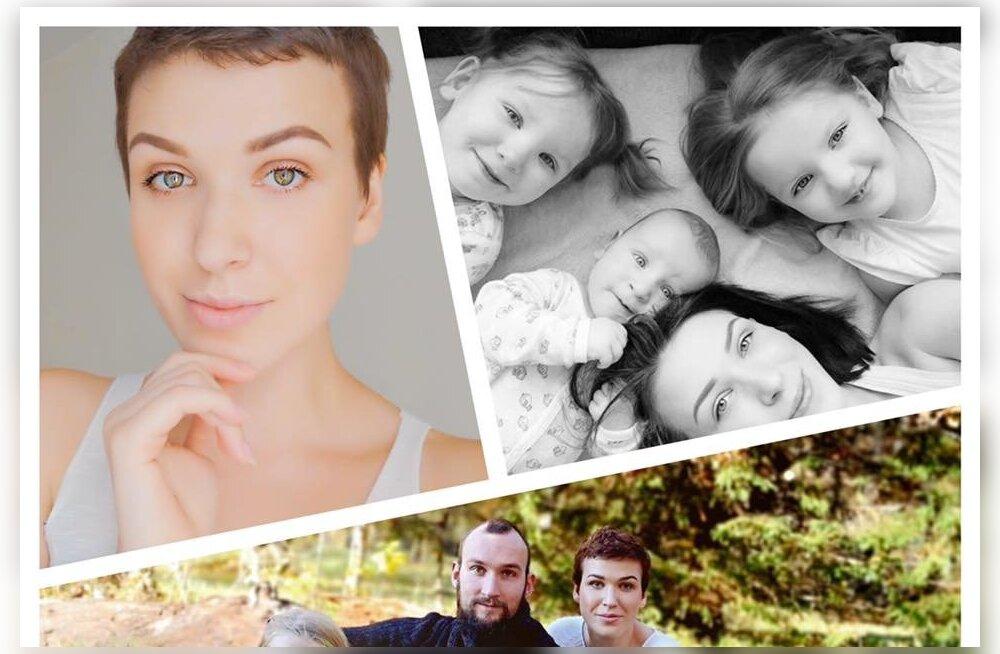 Kolme väikese lapse ema, keda Vähiravifond aitas, kaotas võitluse raske haigusega