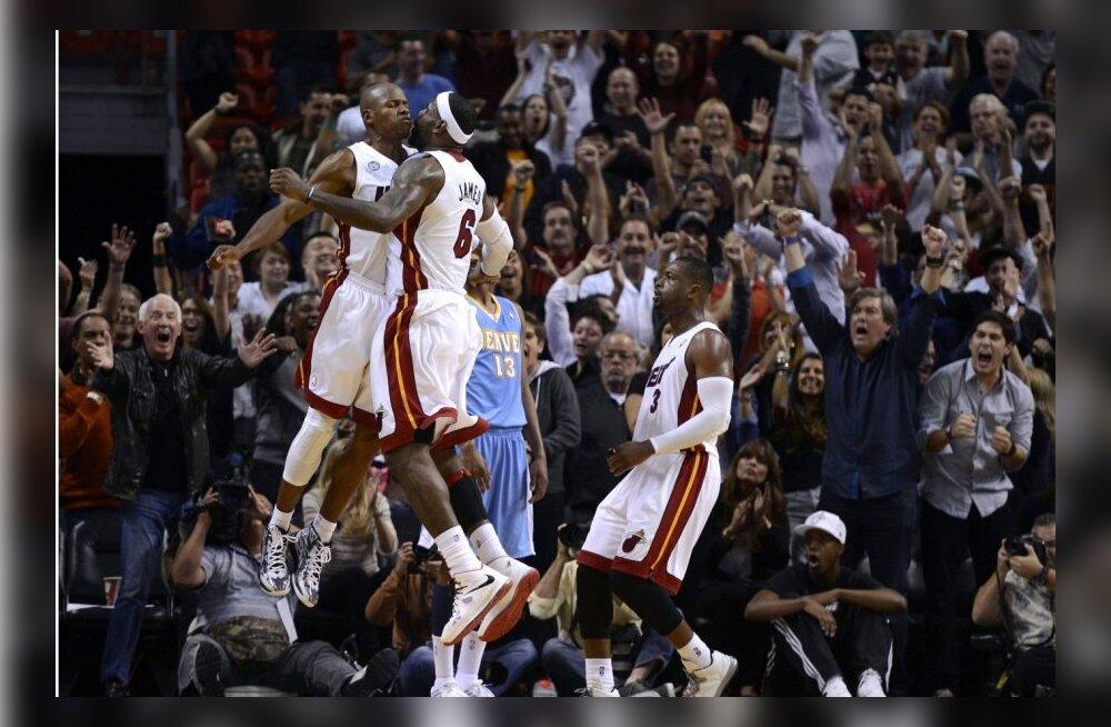 VIDEO: Miami Heat jõudis rekordilise võiduseeriani