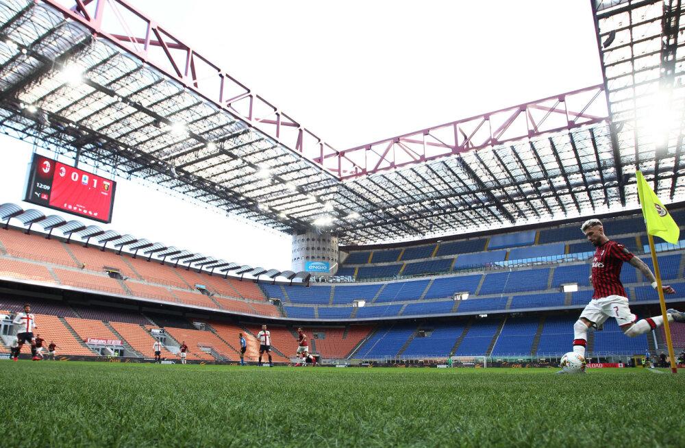 Milani ja Genoa mäng tühjade tribüünide ees