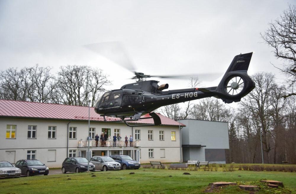 FOTOD | Stiilne saabumine! Oleg Gross külastas helikopteriga hooldekodu klienti