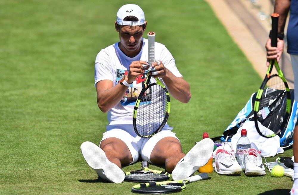 Rafael Nadal tunneb end Wimbledonis kui kala vees