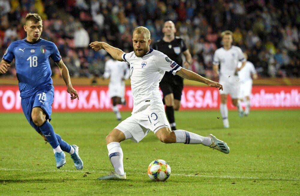 Teemu Pukki mängus Itaaliaga