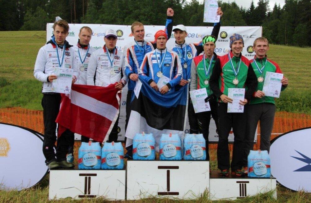 Eesti võidukas orienteerumise meeskond
