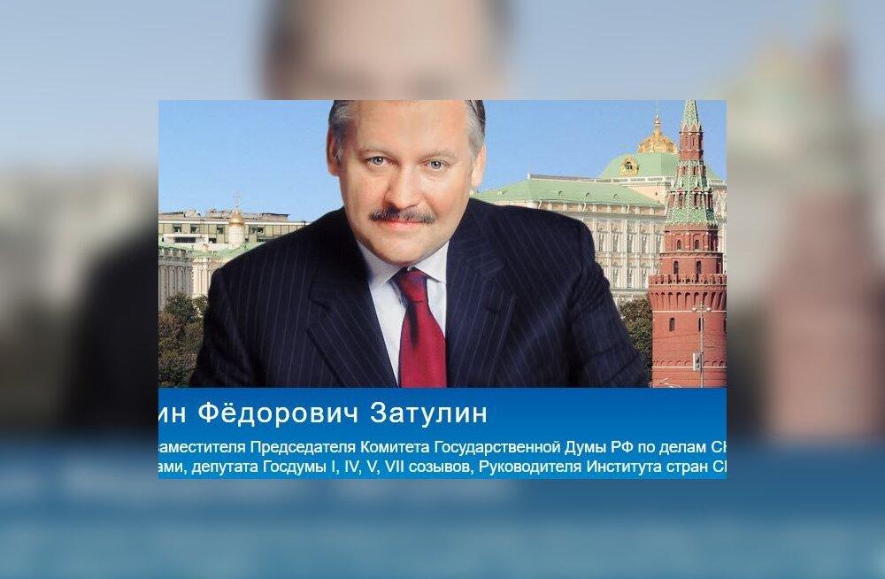 Kes on Konstantin Zatulin, kelle pärast Vene saatkond Eesti peale vihastas?