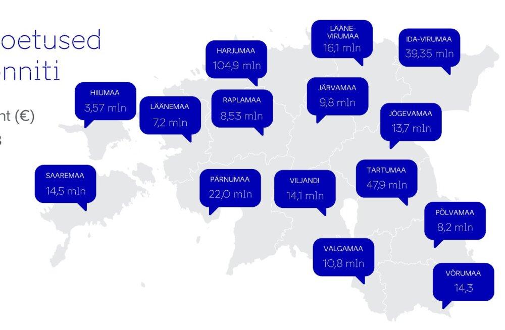 SUUR ÜLEVAADE | EAS annab olulise osa tegevusest ära. Millised on olnud nende suurimad rahastatud projektid üle Eesti