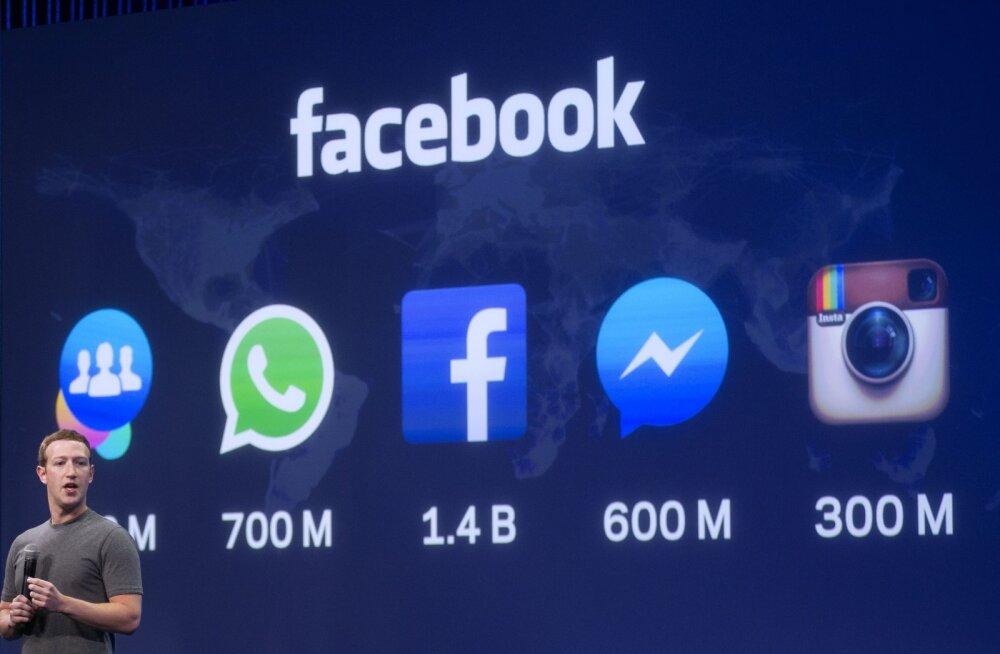 Facebooki plaan: Instagrami, Facebooki ja WhatsAppi kasutajad saavad varsti üksteisele sõnumeid saata