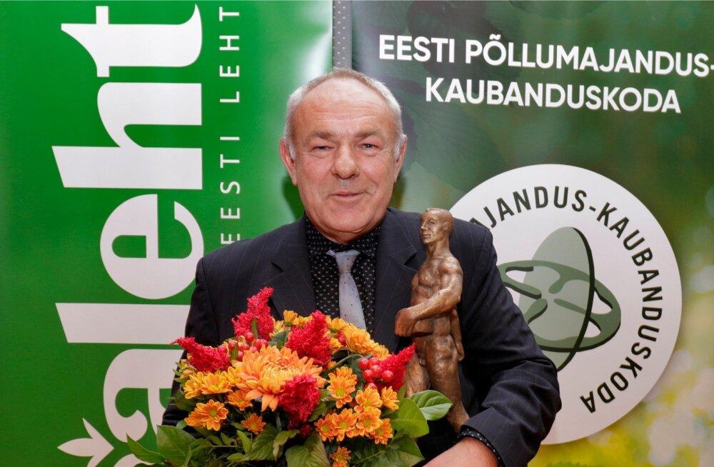 Jaan Metsamaa Aasta Põllumees 2018 väljakuulutamisel Riigikogu konverentsikeskuses.
