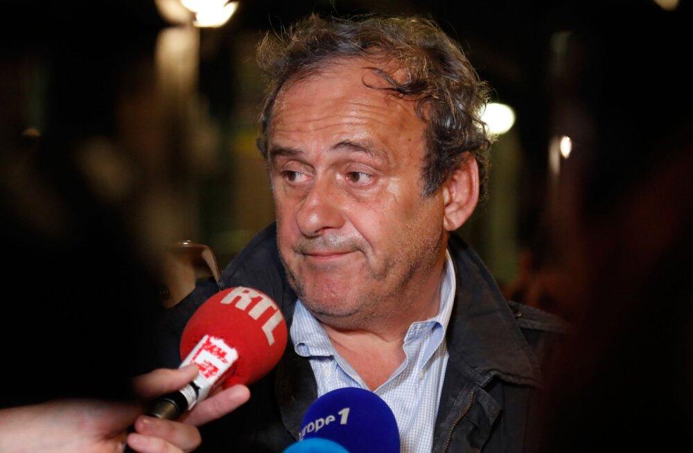 Prantsuse võimud vabastasid UEFA ekspresidendi Michel Platini