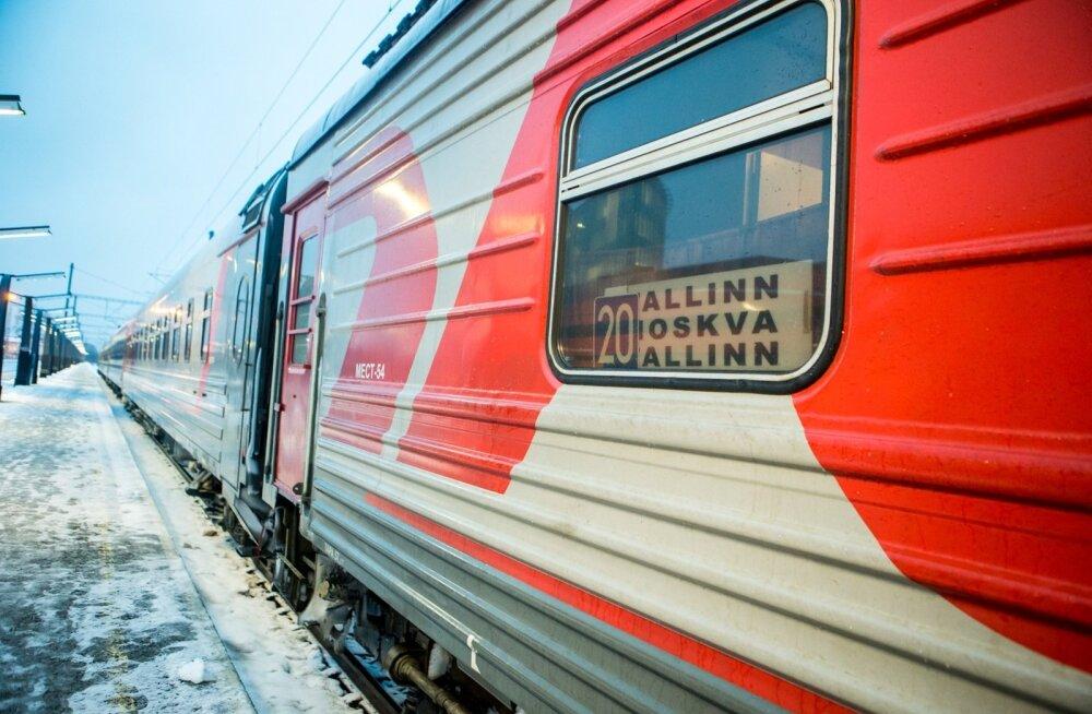 GO Rail Moskva rong Balti jaamas.
