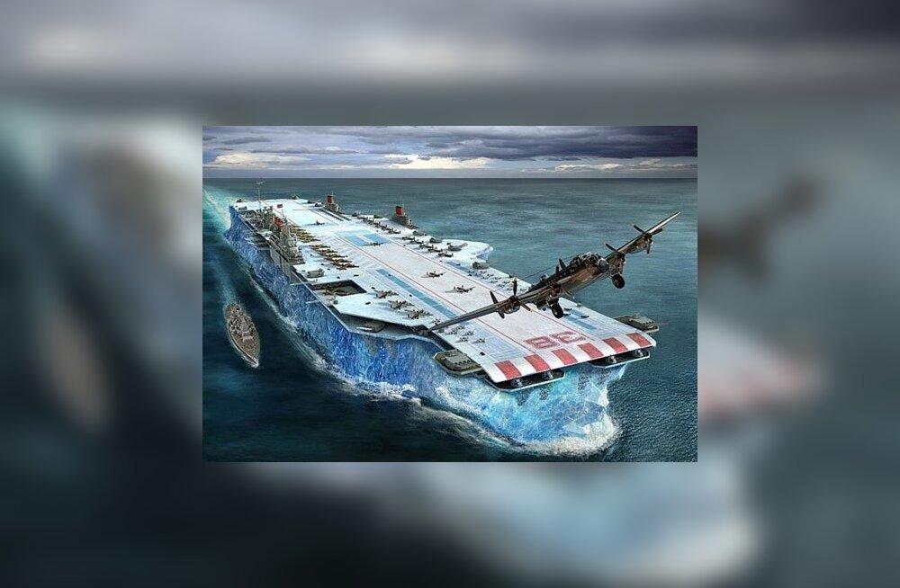 Maailma suurim lennukikandja võinuks sündida jääst ja saepurust!