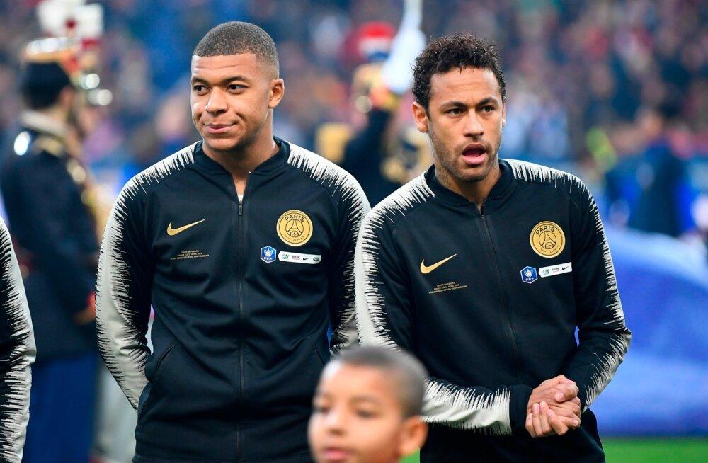 Kylian Mbappe (vasakul) on maailma kõige väärtuslikum jalgpallur. Neymar on aga reaalsuses olnud kõige kallim.