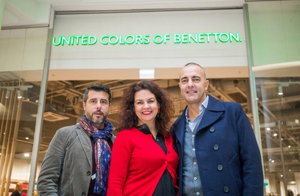 Vasakult: United Colors of Benettoni Põhja-Euroopa piirkonnajuht Nicola Capone, Tallinki kaldakaubanduse juht Kristel Sooaru ja Benettoni äriarenduse juht Giorgio Venturato