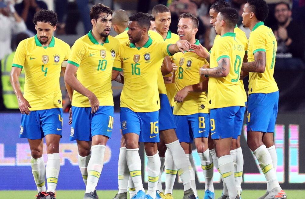 Brasiilia lõpetas kindla võiduga nukra seeria
