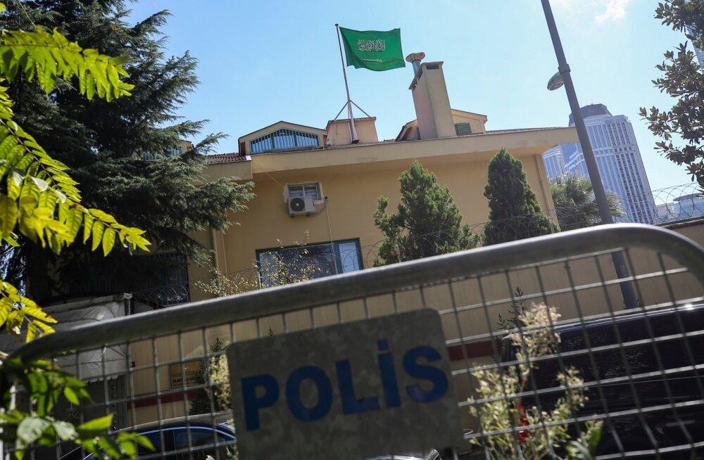 Türgi taotles luba otsida kadunud ajakirjaniku tõttu läbi Saudi Araabia konsulaat Istanbulis