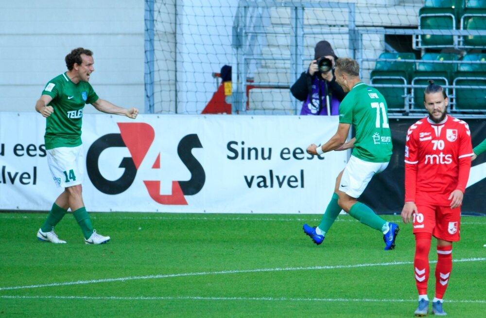 Konstantin Vassiljev ja Mark Anders Lepik võivad rõõmustada – FC Flora on Euroopa liiga teises eelringis. 18-aastane Lepik lõi kahe mängu peale Flora neljast väravast kaks.