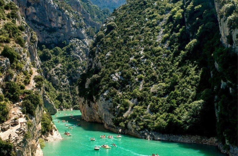 Jõekanjon on väga populaarne aktiivse puhkuse nautijate seas.
