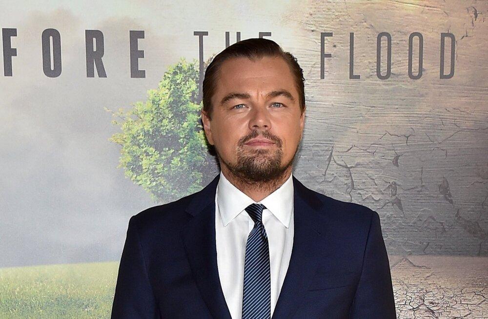 """DiCaprio kliimamuutustest rääkiva dokumentaalfilmi """"Before th flood"""" esitlusel."""