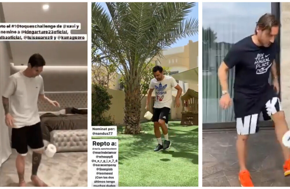 VIDO | Lionel Messi võttis vastu jalgpallistaaride seas leviva vetsupaberi väljakutse