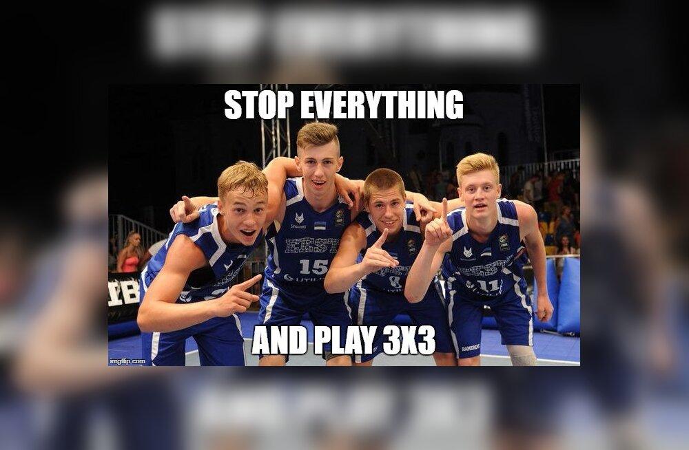 Eesti noored 3x3 korvpallurid