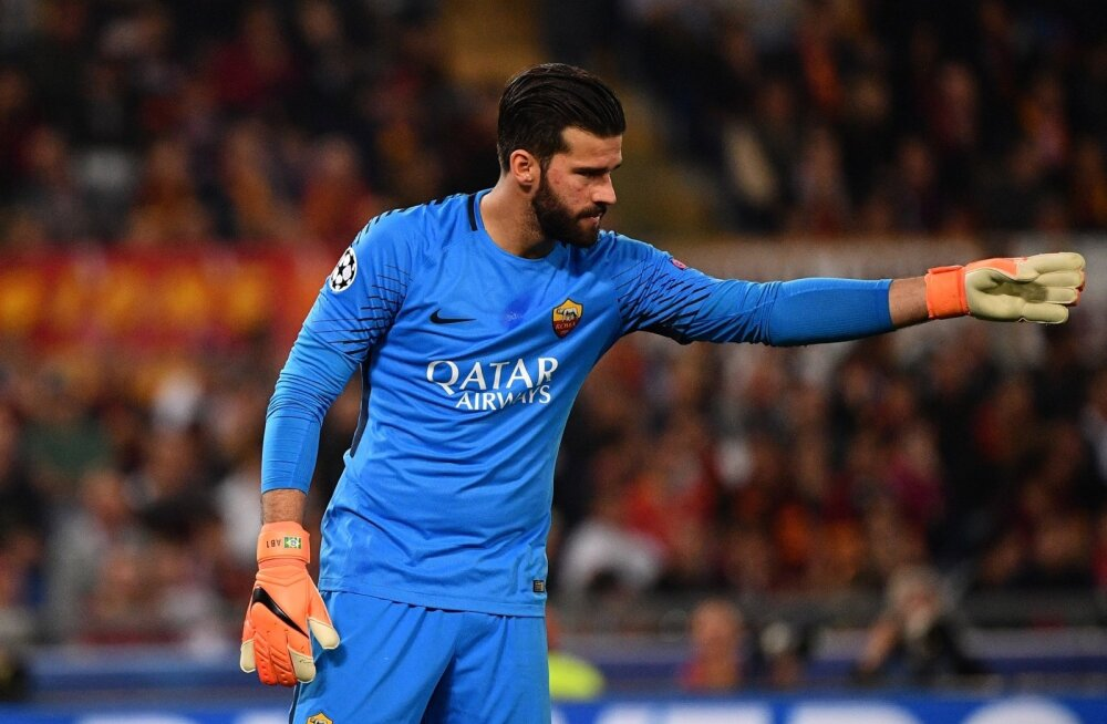 AS Roma esiväravavaht Alisson Becker.