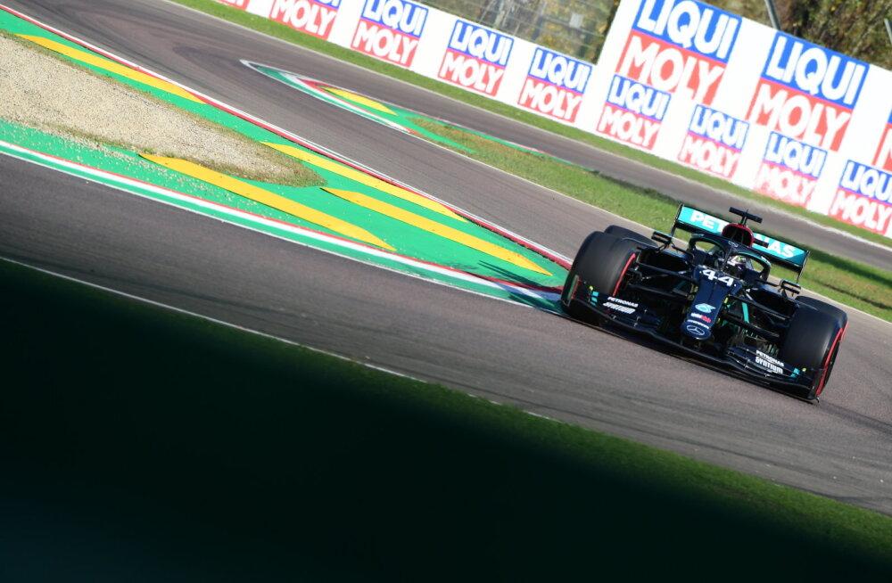 Imolas toimuva F1 etapi ainsa vabatreeningu võitis Hamilton