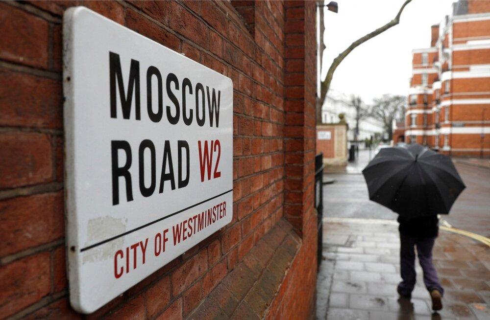 Moskva tänav Londonis. Nüüd mõtleb üha rohkem venelasi kodumaale naasmise peale.