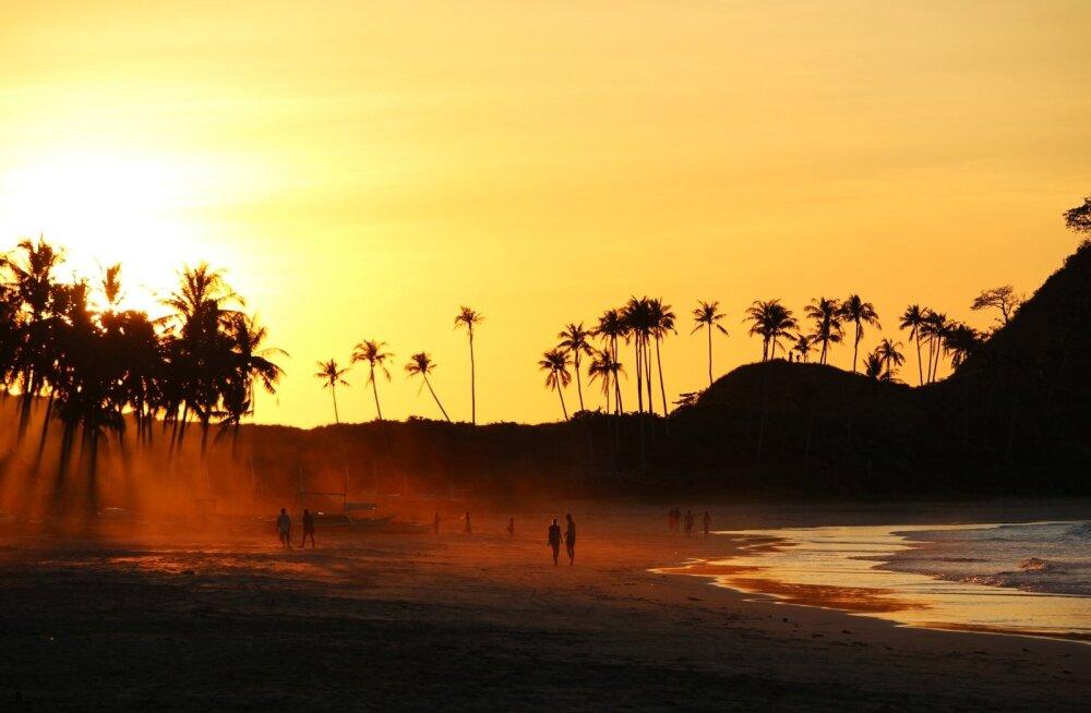 Nacpani rand El Nido lähedal Filipiinidel.
