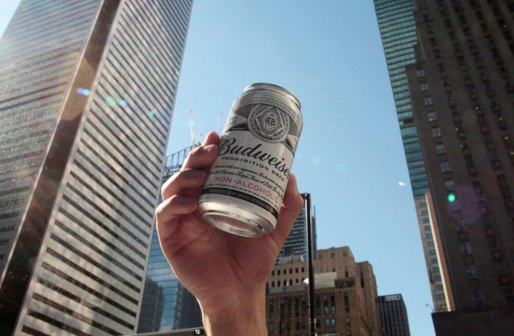 Alkoholivaba Budweiseri esitlus Torontos.