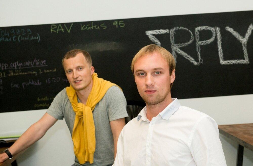 Erply juht ja asutaja Kristjan Hiiemaa (vasakul) ja üleilmse äriarenduse eest vastutav Sander Sebastian Agur
