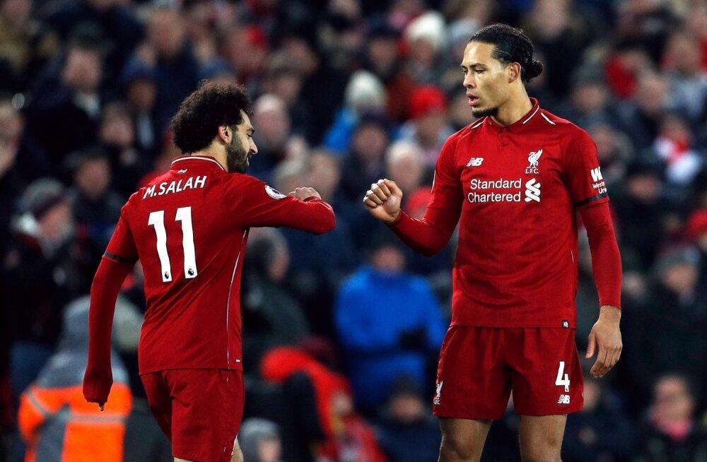 FC Liverpooli suurimad staarid Mohamed Salah ja Virgil van Dijk.