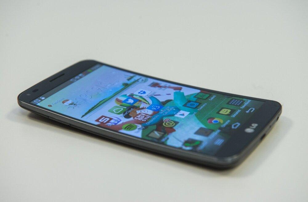 nutitelefon LG G Flex, kaardus, painduv, kumer ekraan