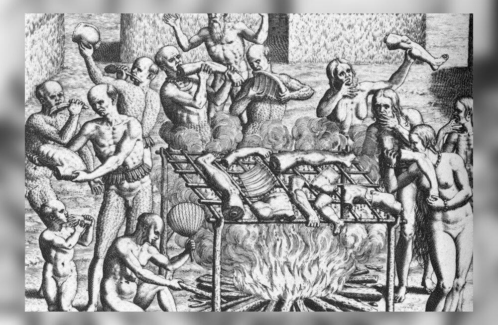 Kannibalism, 19. sajandil laialt levinud, nüüd vaid mõnes kohas praktiseeritav