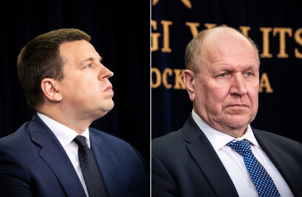 Jüri Ratas ja Mart Helme.