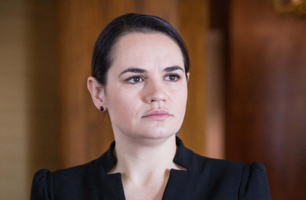 """Valgevene endine presidendikandidaat Tsihhanovskaja esitas Lukašenkale """"rahvaultimaatumi"""""""