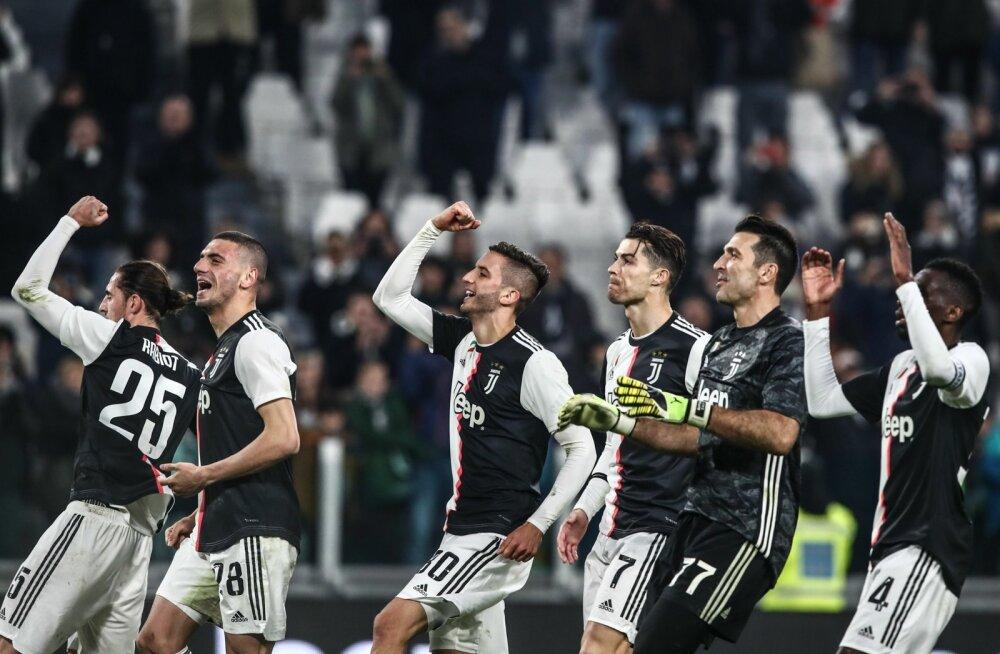Torino Juventuse mängijad said rõõmustada võidu üle.
