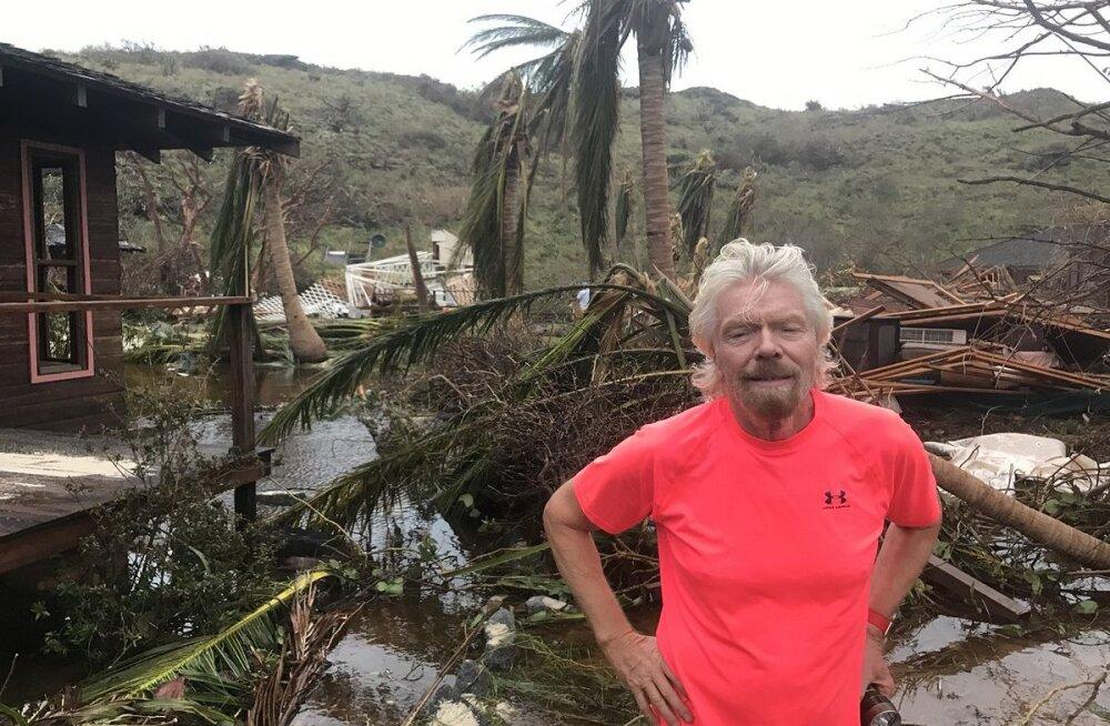 FOTOD | Miljardär Richard Branson näitas, kuidas orkaan Irma tema kodusaart laastas