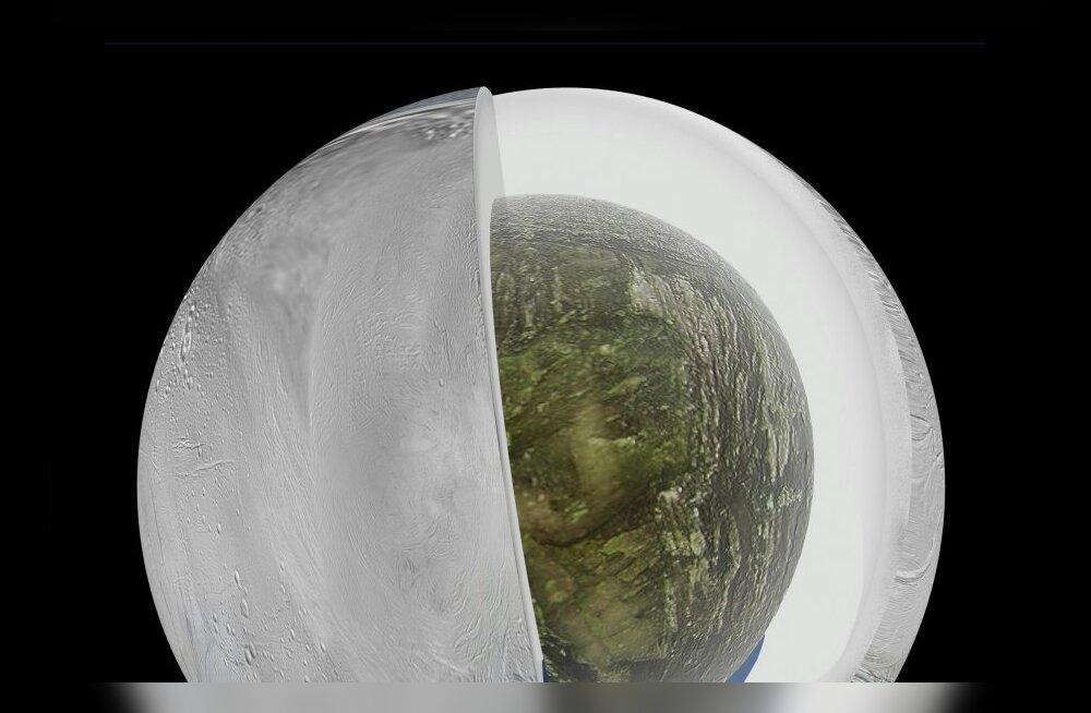 Saturni kuu Enceladus: üks loogilisemaid paiku kosmoses, kust inimene võiks elu otsida