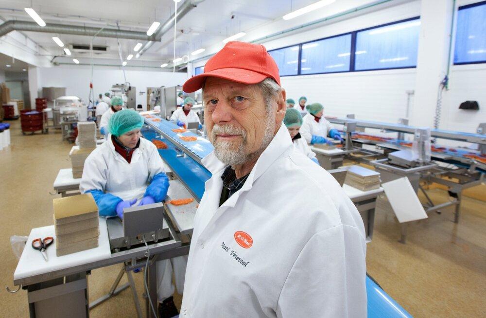 M.V.Wooli asutaja Mati Vetevool Harku tehases enne listeeriaskandaali puhkemist.